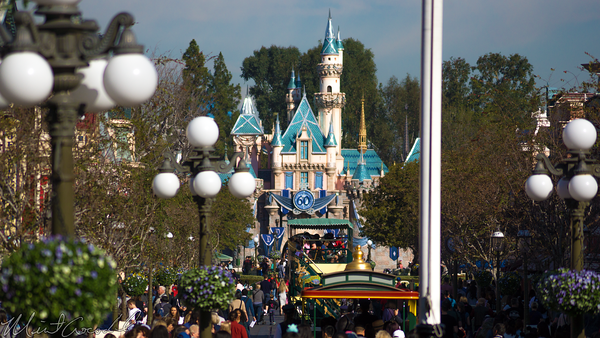Disneyland Resort, Disneyland60, Disneyland, Main Street U.S.A., Railroad, Station, Depot, Sleeping, Beauty, Castle