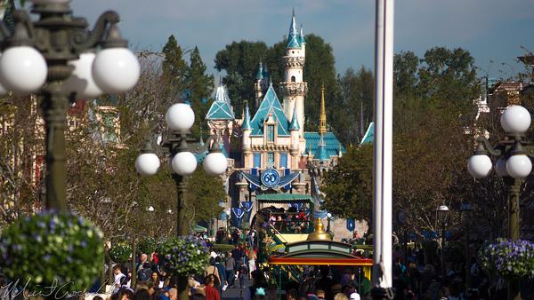 Disneyland Resort, Disneyland60, Disneyland, Main Street U.S.A., Railroad, Station, Depot, Sleeping, Beauty, Castle