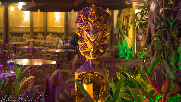 Hong, Kong, Disneyland, Adventureland, Night, Evening, Tahitian, Terrace, Tiki