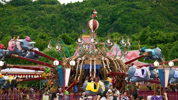 Hong, Kong, Disneyland, Fantasyland, Dumbo