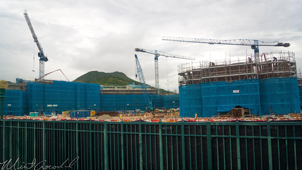 Hong, Kong, Disneyland, Explorers, Lodge, Hotel, Construction