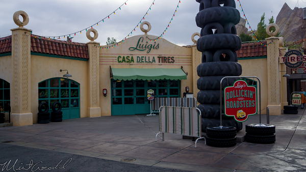 Disneyland Resort, Disneyland60, Disney California Adventure, Cars Land, Luigi's, Rollickin', Roadsters, Flying, Tires, Casa, Della, Tires