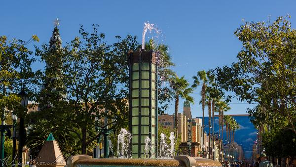 Disneyland Resort, Disneyland60, Christmas, Time, Disney California Adventure, Buena, Vista, Street, Fountain