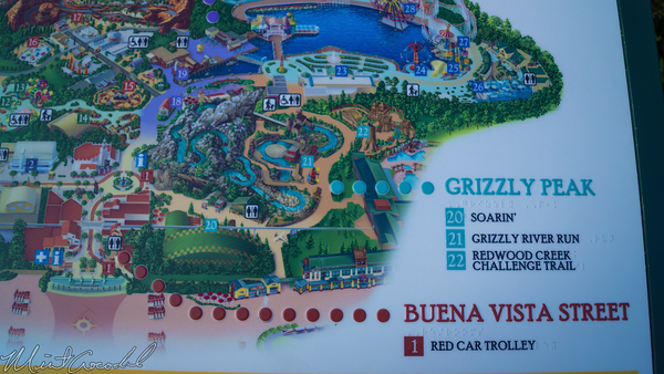 Disneyland Resort, Disney California Adventure, Map, Braille