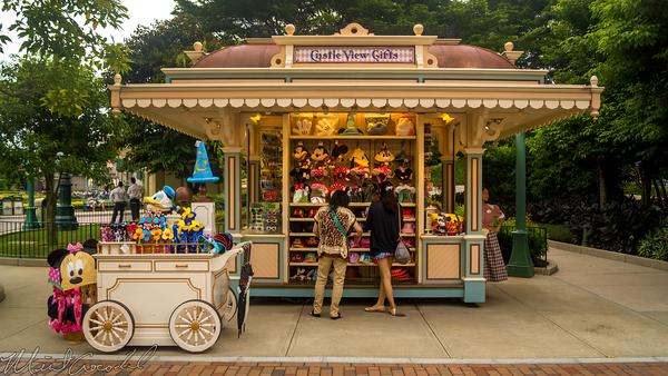 Hong, Kong, Disneyland, Main Street U.S.A., Castle, View, Gifts