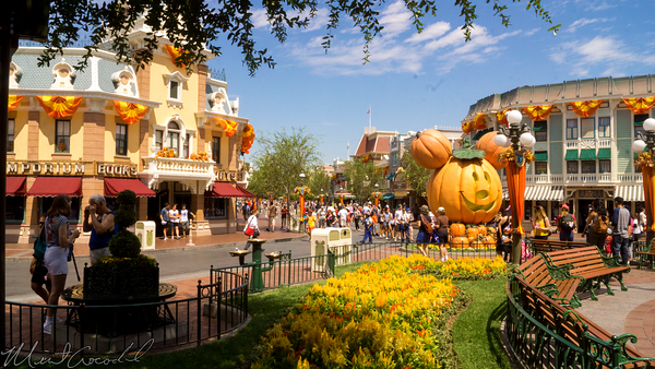 Disneyland Resort, Disneyland60, Disneyland, Main Street U.S.A., Halloween, Time, Flags, Half, Mast