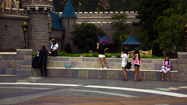 Hong, Kong, Disneyland, Fantasyland, Sleeping, Beauty, Castle, Forecourt