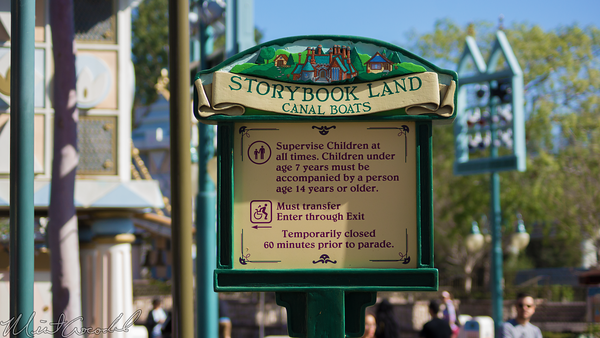 Disneyland Resort, Disneyland, Fantasyland, Storybook, Land, Sign, Parade
