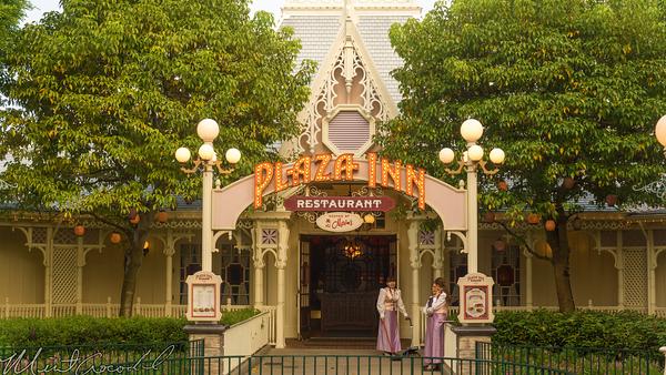 Hong, Kong, Disneyland, Main Street U.S.A., Plaza, Inn