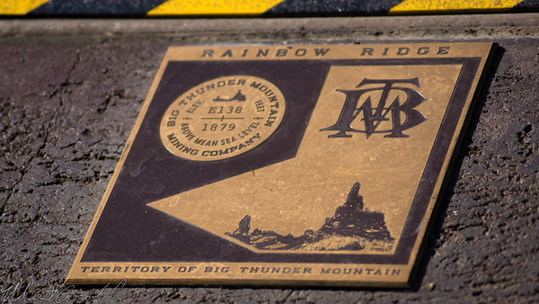 Disneyland Resort, Disneyland, Frontierland, Big, Thunder, Mountain, Railroad, Star, Wars, Land, Construction, Trail, Closed, Marker, Station