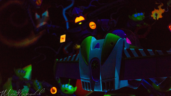 Hong, Kong, Disneyland, Tomorrowland, Buzz, Lightyear, Astro, Blasters