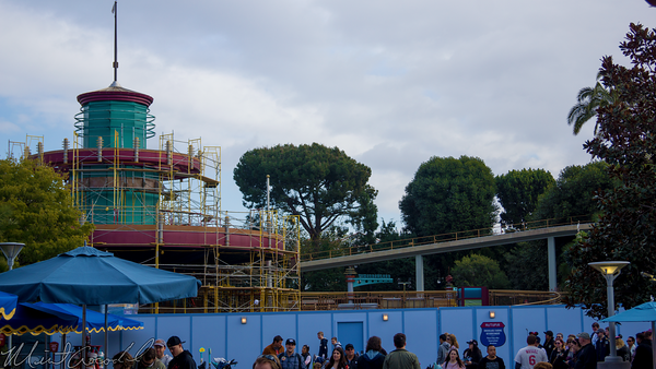 Disneyland Resort, Disneyland60, Disneyland, Tomorrowland, Autopia, Refurbishment, Refurbish, Refurb, Scaffolding, Scaffold