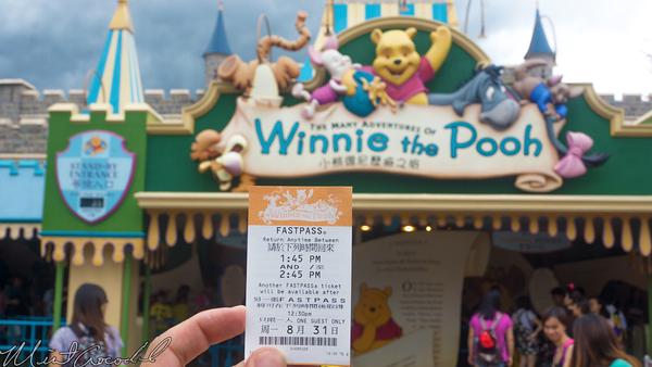 Hong, Kong, Disneyland, Fantasyland, Winnie, Pooh, FastPass, Fast, Pass