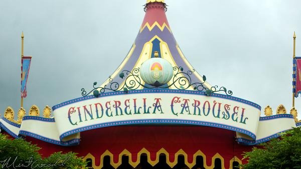 Hong, Kong, Disneyland, Fantasyland, Cinderella, Carousel
