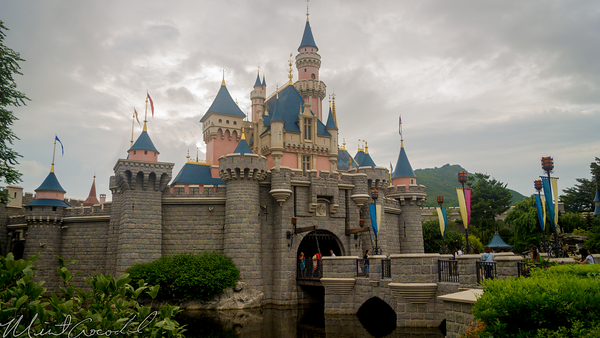 Hong, Kong, Disneyland, Sleeping Beauty, Castle