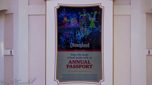 Disneyland Resort, Disneyland, Disney California Adventure, Ticket, Booth, Electronic, Electric, Billboard, Price, Info, Admission