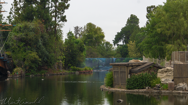 Disneyland Resort, Disneyland, Frontierland, River, America, Cofferdam, Dam, Tree, Star, Wars, Land