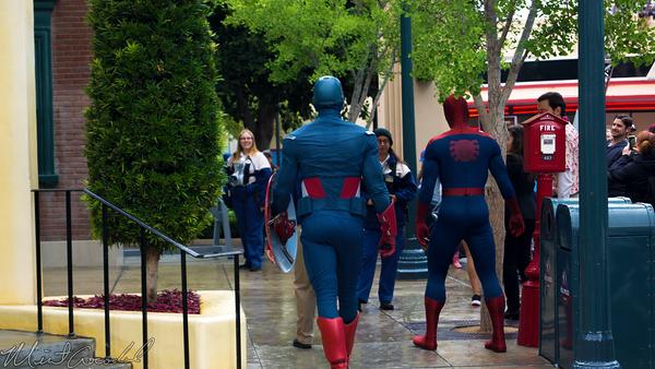Disneyland Resort, Disney California Adventure, Hollywood Land, Captain, America, Spider, Man, Marvel