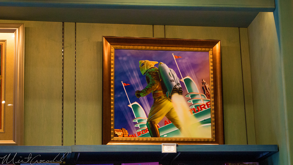Disneyland Resort, Disneyland60, Christmas, Time, Disney California Adventrue, Hollywood Land, Rocketeer, Painting