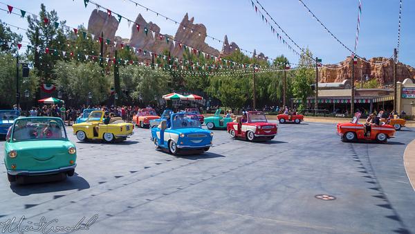 Disneyland Resort, Disney California Adventure, Cars Land, Luigi's, Rollickin', Roadsters