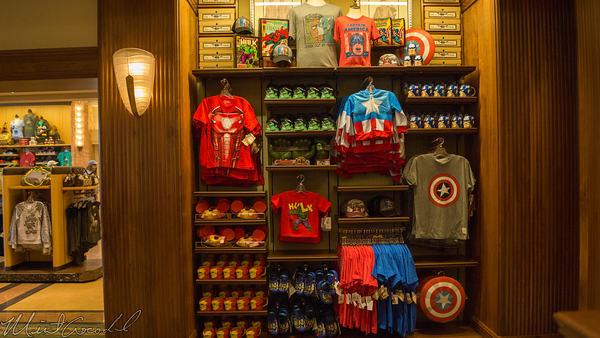 Disneyland Resort, Disney California Adventure, Buena, Vista, Street, Marvel, Merchandise