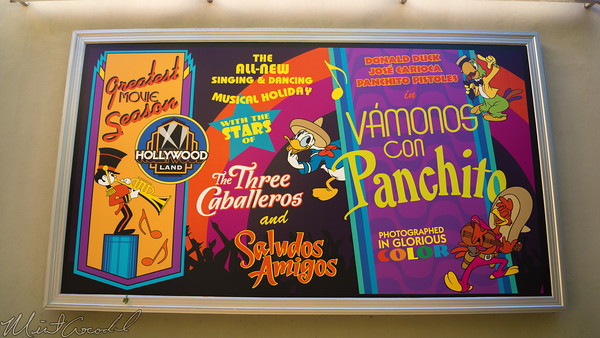 Disneyland Resort, Disneyland60, Christmas, Time, Disney California Adventure, Hollywood Land, Hyperion, Theater, Theatre, Aladdin, Musical, Spectacular, Patio, Billboard, Plaza, Courtyard