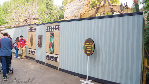 Disneyland Resort, Disneyland60, Disneyland, Adventureland, Entrance, Wall, Refurbish, Refurbishment, Refurb