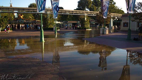 Disneyland Resort, Disneyland60, Disneyland, Disney California Adventure, Esplanade, Main, Entrance, Flood, Water