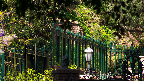 Disneyland Resort, Disneyland, New, Orleans, Square, Haunted, Manion, Queue, Fence, Fall, Protection