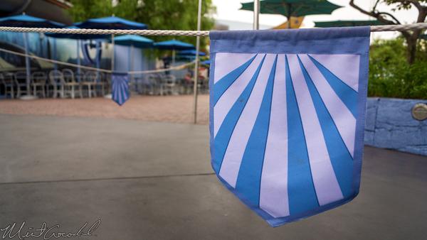 Disneyland Resort, Disneyland60, Disneyland, Disney California Adventure, Tomorrowland, Theme, Flag, Rope