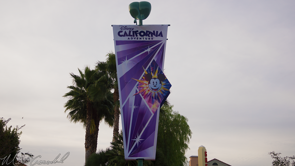 Disneyland Resort, Disneyland60, Christmas, Time, Disneyland, Disney California Adventure, Main, Entrance, Plaza, Flag, Banner, Mickey, Fun, Wheel, Paradise, Pier