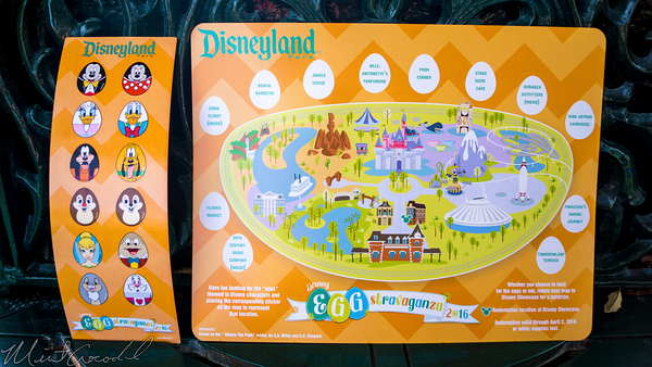 Disneyland Resort, Disneyland, Main Street U.S.A., Egg-Stravaganza, Eggstravaganza, Easter, Egg, Hunt, Map
