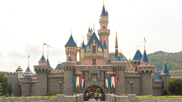 Hong, Kong, Disneyland, Sleeping, Beauty, Castle, Fantasyland