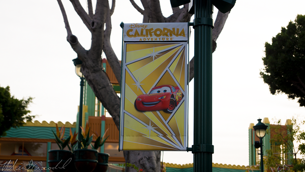 Disneyland Resort, Disneyland60, Christmas, Time, Downtown Disney, Banner, Flag, Disney California Adventure, Radiator Spring Racers, Cars Land