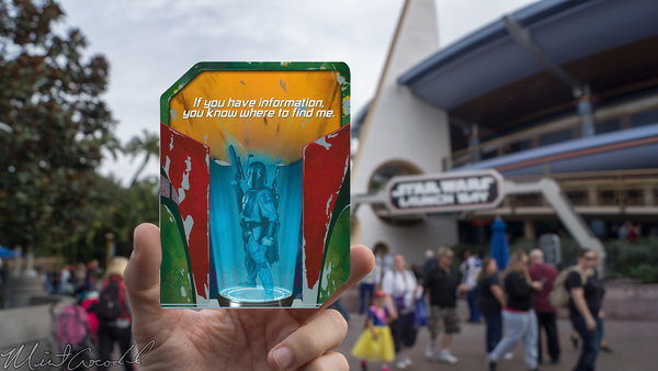 Disneyland Resort, Disneyland60, Christmas, Time, Disneyland, Tomorrowland, Star, Wars, Season, Of, The, Force, Launch, Bay, Boba, Fett, Card
