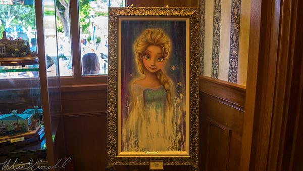 Disneyland Resort, Disneyland60, Disneyland, Main Street U.S.A., Disneyana, Frozen, Anna, Painting