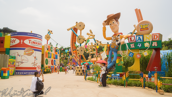 Hong, Kong, Disneyland, Toy, Story, Land