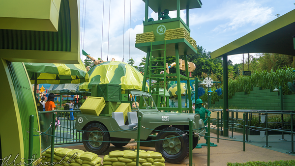 Hong, Kong, Disneyland, Toy, Story, Land, Parachute, Drop