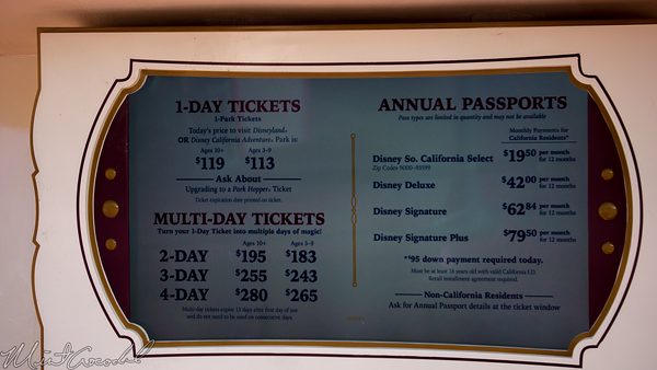 Disneyland Resort, Disneyland, Disney California Adventure, Ticket, Admission, Price