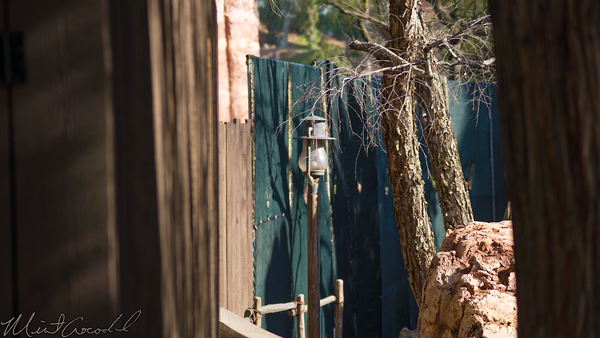 Disneyland Resort, Disneyland, Frontierland, Big, Thunder, Mountain, Railroad, Star, Wars, Land, Construction, Trail, Closed