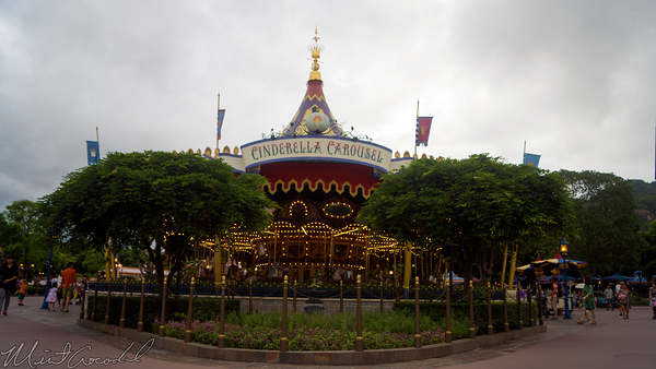 Hong, Kong, Disneyland, Fantasyland, Cinderella, Carousel, Sword, Stone