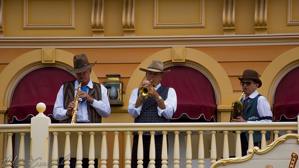Disneyland Resort, Disneyland60, Disneyland, Frontierland, Band, Golden, Horeshoe