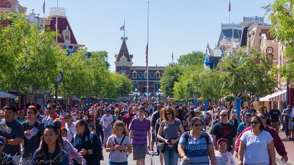 Disneyland Resort, Disneyland, Main Street USA, Spring, Break, Crowd