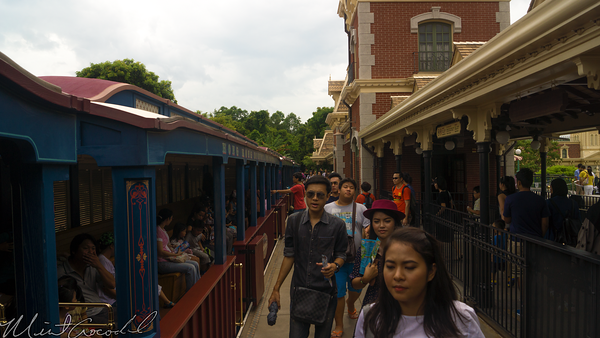 Hong, Kong, Disneyland, Main Street U.S.A., Railroad, Train, Station