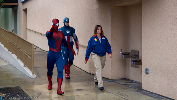 Disneyland Resort, Disney California Adventure, Hollywood Land, Captain, America, Spider, Man, Marvel