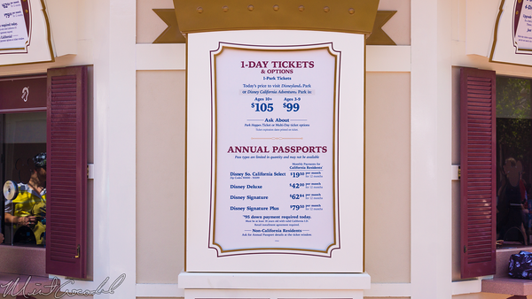 Disneyland Resort, Disneyland, Disney California Adventure, Admission, Price, Ticket