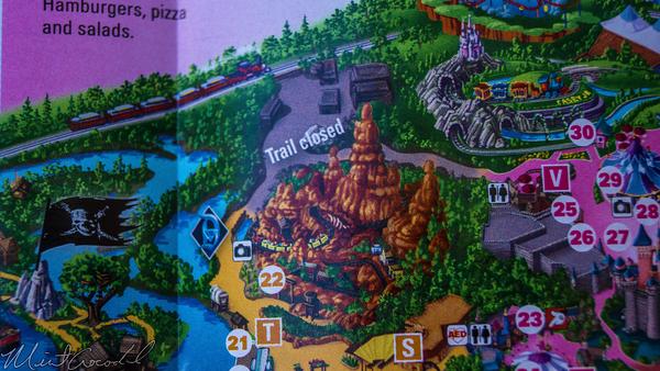 Disneyland Resort, Disneyland60, Disneyland, Guide, Map, Big, Thunder, Trail, Closed, Star, Wars, Land