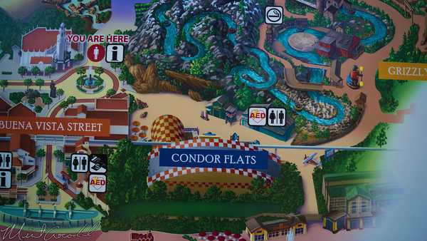 Disneyland Resort, Disneyland60, Halloween, Time, Christmas, Disney California Adventure, Buena, Vista, Street, Map, Condor, Flats, Luigi, Flying, Tires