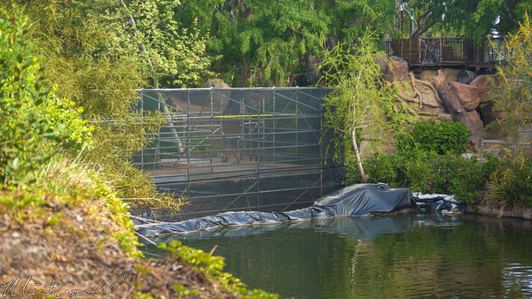 Disneyland Resort, Disneyland, Frontierland, Tom, Sawyer, Island, River, America, Star, Wars, Construction, Cofferdam, Dam