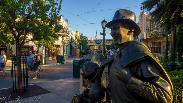 Disneyland Resort, Disneyland60, Halloween, Time, Disney California Adventure, Buena, Vista, Street, Storytellers, Statue, Walt, Mickey